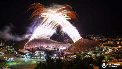Ultra Europe fireworks