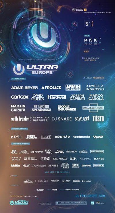 Ultra Europe - Lineup