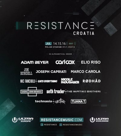 Resistance stage - Lineup